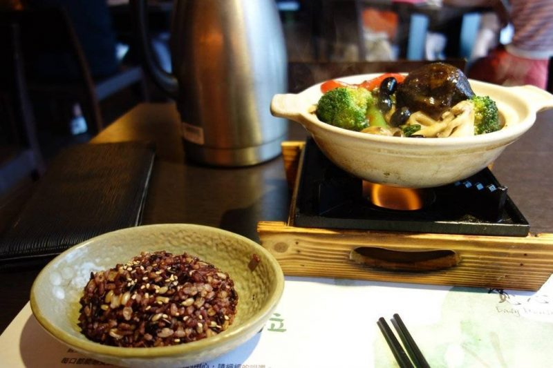 Modern Fine Vegetarian Cuisine in a restaurant in Taichung, Easy House