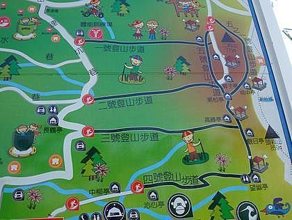 Hiking in Taiwan – East Dakeng Trails Map, Taichung.